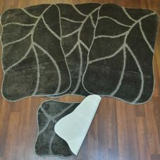 ROMANY GYPSY WASHABLE SETS OF NEW SIZE 67X110CM MATS-RUGS DARK GREY NON SLIP X